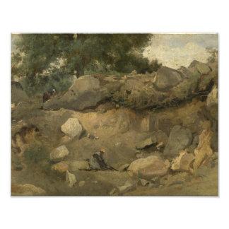 Foto Jean-Baptiste-Camilo Corot - mina de piedra