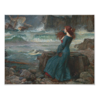 Foto John William Waterhouse - Miranda - la tempestad
