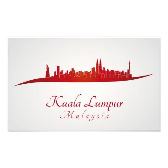Foto Kuala Lumpur skyline in red