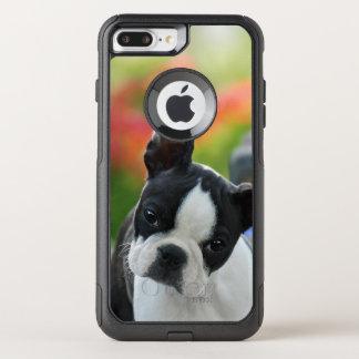 Foto linda del mascota del perrito del perro de funda commuter de OtterBox para iPhone 8 plus/7 pl
