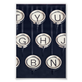 Foto Llaves de la máquina de escribir del vintage