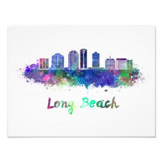 Foto Long Beach V2 skyline in watercolor
