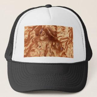 Foto macra de una cubierta del chocolate de una gorra de camionero