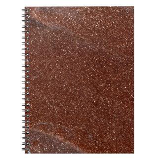 Foto macra del vidrio de Goldstone Cuaderno