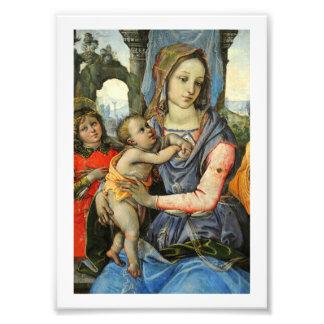 Foto Madonna y niño con San José y un ángel