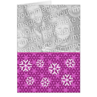 Foto magenta del personalizado del navidad de los tarjeta pequeña