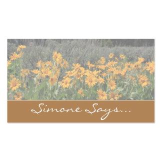 Foto magnífica del recuerdo de la primavera de tarjetas de visita