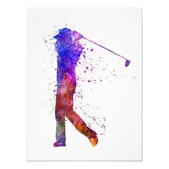 Foto man golfer swing silhouette