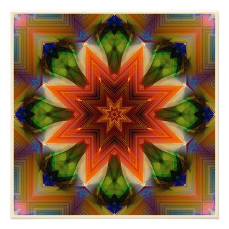 Foto Mandala en colores del moho