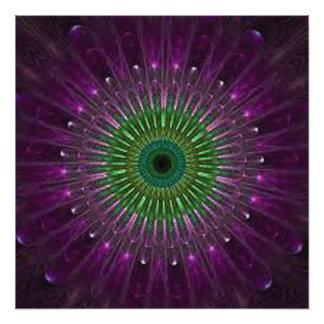 Foto Mandala púrpura y verde