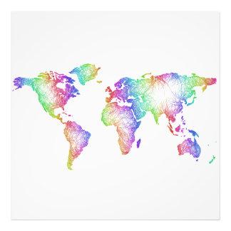 Foto Mapa del mundo del arco iris