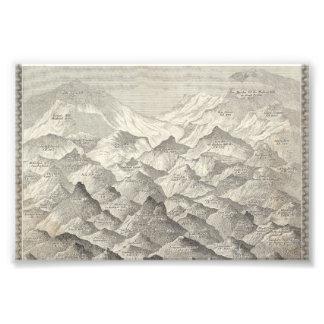 Foto Mapa del vintage de colinas y de montañas en Reino