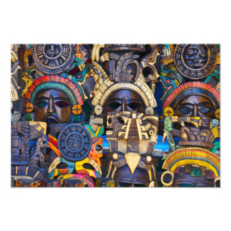 Foto Máscaras de madera mayas para la venta