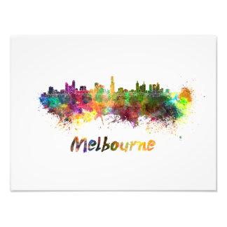 Foto Melbourne skyline in watercolor
