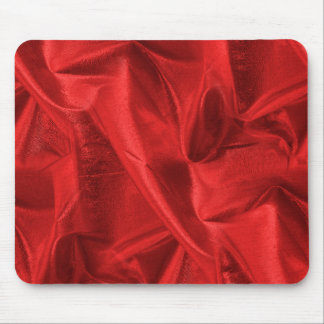 Foto metálica roja arrugada de la tela de Lame Alfombrilla De Raton