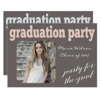 Foto moderna de la fiesta de graduación de la invitación 12,7 x 17,8 cm