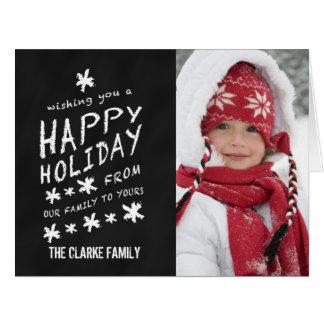 Foto moderna del navidad de la escritura de la tarjeta de felicitación grande