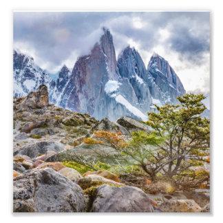 Foto Montañas Nevado en el EL Chalten Argenti de Laguna
