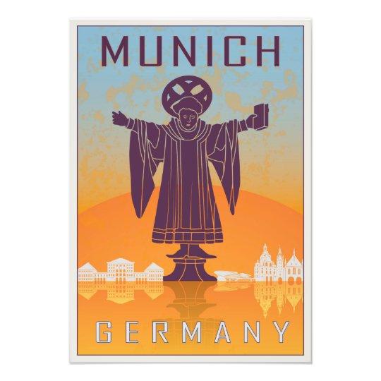 Foto Munich vintage poster