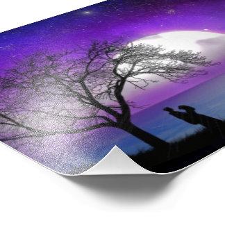 Foto Noche púrpura hermosa del amor