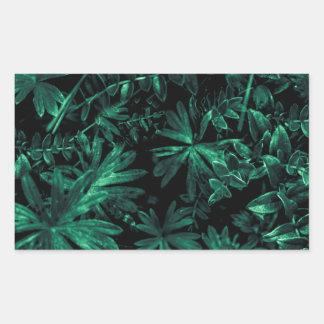 Foto oscura de la flora pegatina rectangular