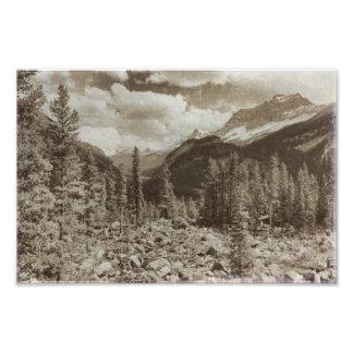 Foto Paisaje de Wyoming de la sepia del parque nacional
