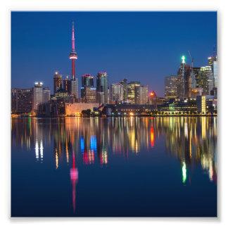 Foto Paisaje urbano de la noche de Toronto Canadá