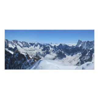 Foto Panorama de Chamonix de las montañas de Franch