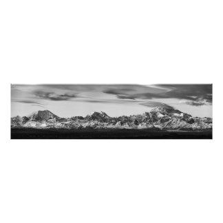 Foto Panorama de la gama de Alaska