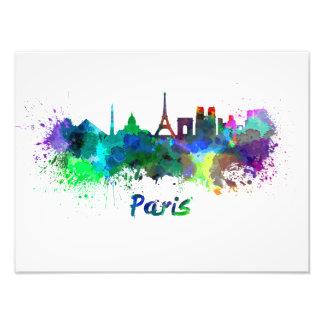 Foto Paris skyline in watercolor