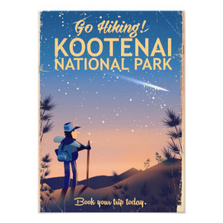 Foto Parque nacional de Kootenai que camina el poster
