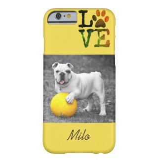 Foto personalizada del perro y caja conocida del funda barely there iPhone 6