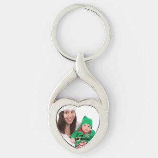 Foto personalizada llavero en forma de corazón