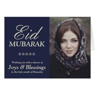 Foto personalizada tipografía elegante de Eid Tarjeta De Felicitación