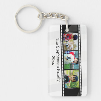 foto personalizada tira de la película 3-Photo Llavero Rectangular Acrílico A Una Cara