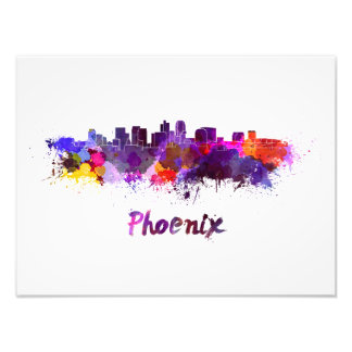 Foto Phoenix skyline in watercolor