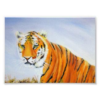 Foto Pintura grande del tigre
