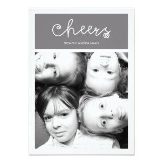 Foto plana del día de fiesta de la familia moderna invitación 12,7 x 17,8 cm