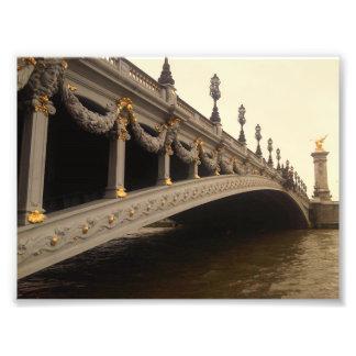 Foto Pont Alejandro III (Paris) en tonos de la sepia