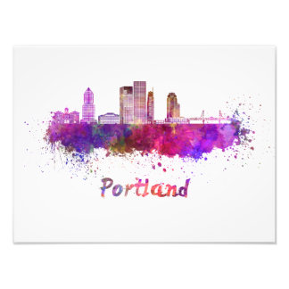 Foto Portland V2 skyline in watercolor