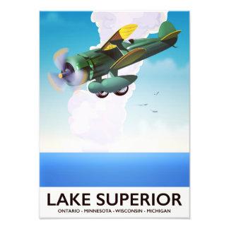 Foto Poster del viaje del vintage del apoyo del lago