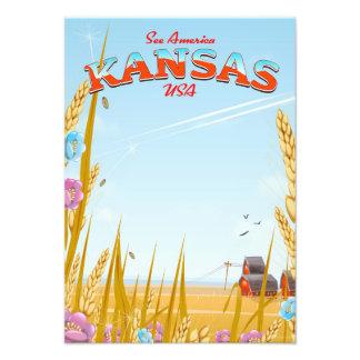 Foto Poster retro del viaje de la granja de Kansas los