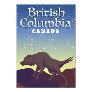 Foto Poster salvaje del lobo de Canadá de la Columbia