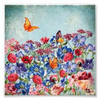 Foto Prado de la flor - acuarela floral del vintage