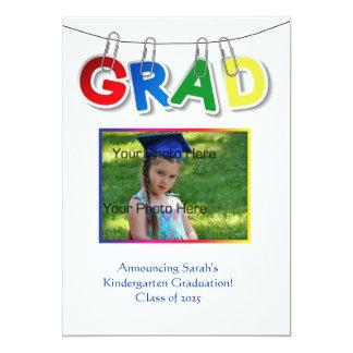 Foto primaria del texto del graduado invitación 12,7 x 17,8 cm