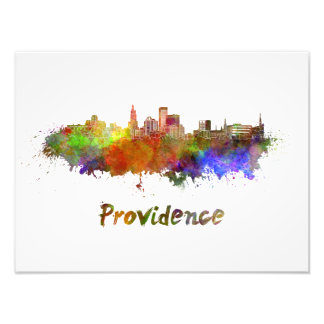 Foto Providence skyline in watercolor