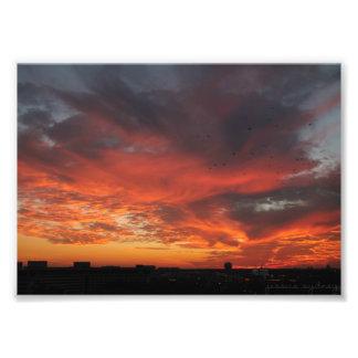 Foto Puesta del sol colorida