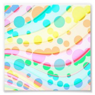 Foto Puntos y modelo de ondas en colores pastel