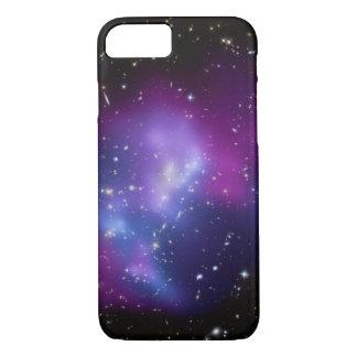 Foto púrpura del espacio del racimo de la galaxia funda para iPhone 8/7