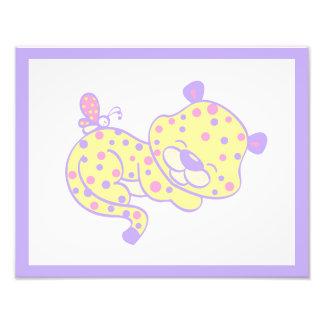 Foto Púrpura del rosa del guepardo de la impresión del